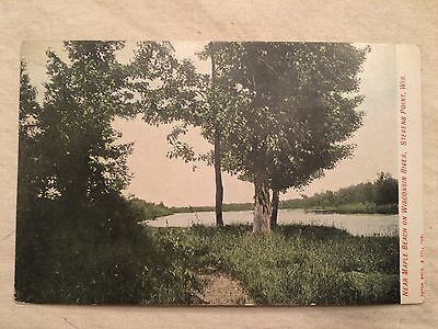 Vintage Postcard - Maple Beach on Wisconsin River - Stevens Point, WI - 1909