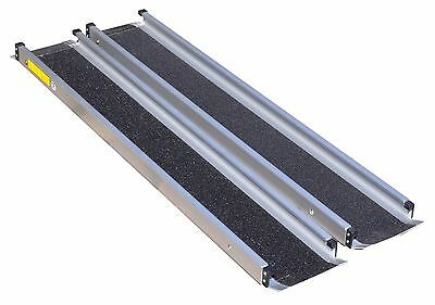 TELESCOPIC CHANNEL RAMP 6ft - Wheechair & Scooter Mobility Aid Non-Slip Surface