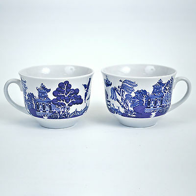 2 Royal Cuthbertson China Blue Willow Cups