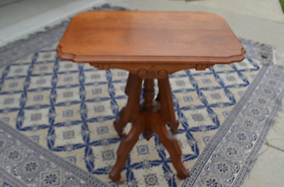 Antique Victorian Walnut Parlor Table by The Herb & Myers Co. Sandusky Ohio USA
