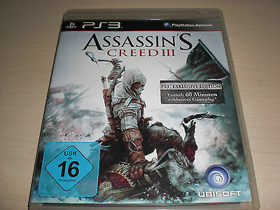 Assassin´s Creed III für PS3 PLAYSTATION 3, Disc wie neu !!!