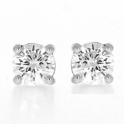 Christmas Special!! 0.50 Carat Diamond Solitaire Studs 18K White Gold