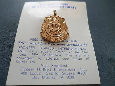 Vintage FFA Future Farmers FEED AND GRAIN PRODUCTION Award Medal NEW