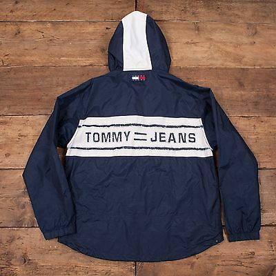 "Mens Vintage OG Tommy Hilfiger Waterproof Spell Out Jacket Size S 36"" R4329"