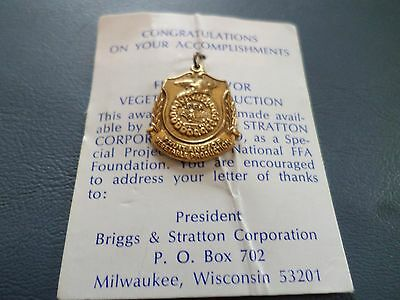 Vintage FFA Future Farmers FRUIT AND/OR VEGETABLE PRODUCTION Award Medal NEW