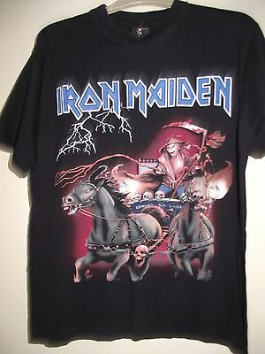 iron maiden large black heavy metal t shirt by rock@tg super cond