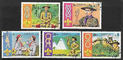 Fujeira 1971 Boy Scout Knot-Tying World Jamboree Set Of 5 Stamps Complete