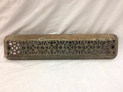 Antique Cast Iron Hot Water Steam Radiator Cover Plant Stand Garden Vtg 2297-16