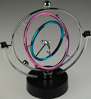 Dolphin Circular Sphere Perpetual Moving Instrument - Novelty Desk Toy