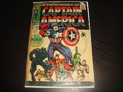 CAPTAIN AMERICA #100  1st in own title  Marvel Comics 1968 GD/GD-