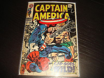 CAPTAIN AMERICA #106 Jack Kirby   Marvel Comics 1968  GD