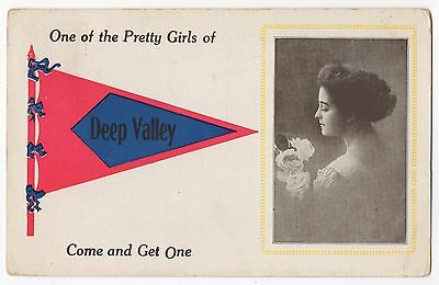 1913~DEEP VALLEY,PA DPO~Green County, Springhill~PENNANT~to Chicora BARNHART