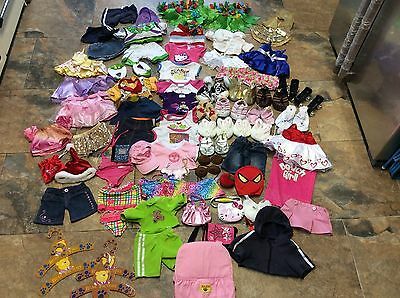 Large Bundle Build A Bear Clothes Outfits Footwea, Buzz Lightyear,  Beach Wear