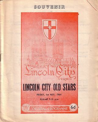 LINCOLN v LINCOLN OLD STARS 1963/64 BENEFIT MATCH