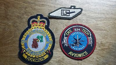 Vintage Lot of 3 Military Patches Airforce Canada Tank Patch Unknown Collectible