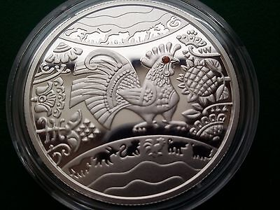 "Ukraine 5 UAH Lunar ""Year of the Rooster"" Coin ,2016 year"