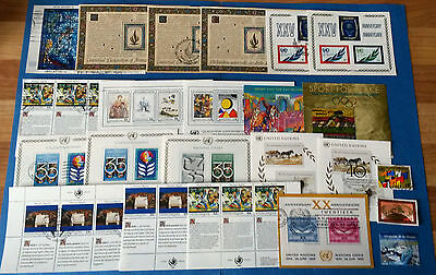 United Nations Stamps - 20 Mini Sheets All In Excellent Condition