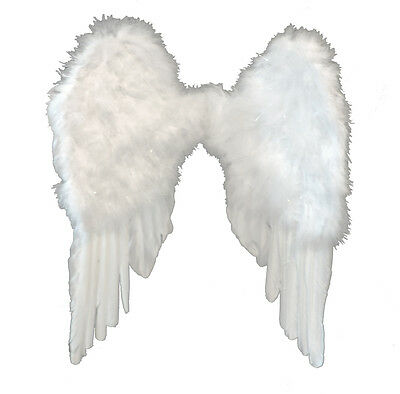 White Fairy Angel Heaven Feather Wings Fancy Dress Costume Accessory Photo Prop