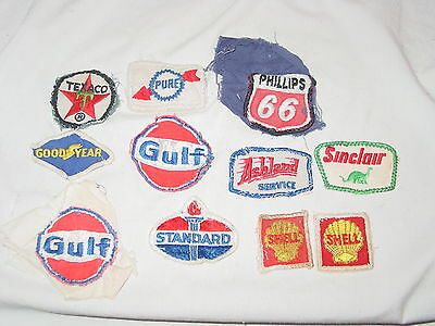 Vintage Lot of 11 Gas & Oil Automotive Advertising Embroidered Sew On Patches