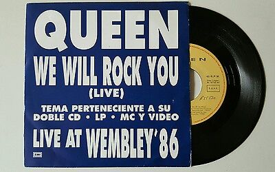 "Queen we will rock you 7"" unique promo sleeve spanish edition"