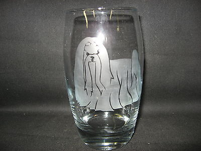 New Etched Maltese Glass Tumbler
