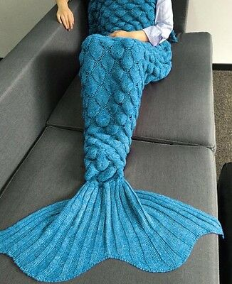 Blue Mermaid Tail Blanket - Brand New, Adult Size, Fast Shipping Available!