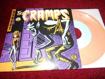 THE CRAMPS -  HUNGRY - Live   PEACH MARBLE WAX (RAMONES,PSYCHOBILLY,GARAGE PUNK)