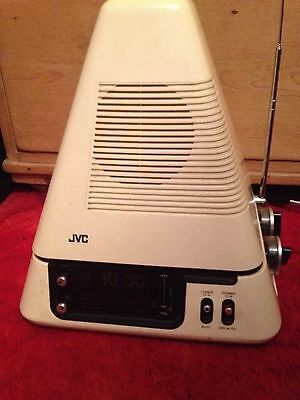 JVC  VideoSphere pyramid  ModelTelevision with clock
