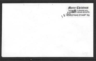 1989 1st TURNERS HILL & CRAWLEY DOWNS SCOUTS 10p CHRISTMAS STAMP