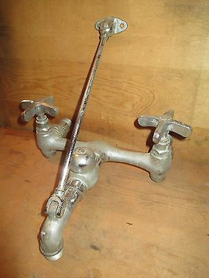 Vintage Speakman Faucet with Arm Brace - Industrial Plumbing Fixture