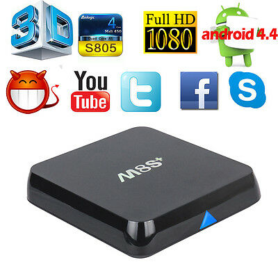 M8S+ Plus 1G+8G S805 Fully Loaded Quad Core Android 4.4 Smart TV Box Free Movies