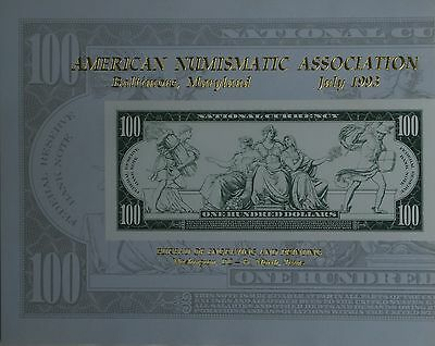 1993 BEP Souvenir Card Reverse of National Currency 100 Dollar Note
