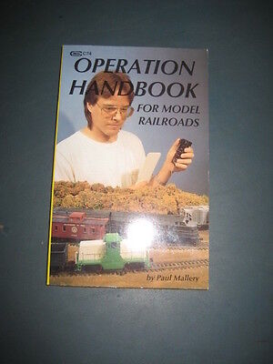 OPERATION HANDBOOK for Model Railroads: charts, diagrams,  -By Paul Mallery