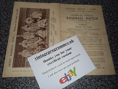 Derby County F.c. : 1944 American Forces Basesball Match On Baseball Ground