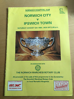 NORWICH CITY v IPSWICH TOWN : 1989 Norwich Hospital Cup August 12th, 1989