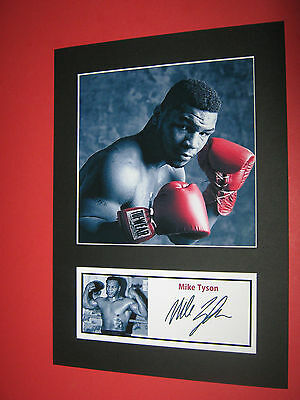 Mike Tyson  Boxing  A4 Photo Mount Signed (Pre-Printed)
