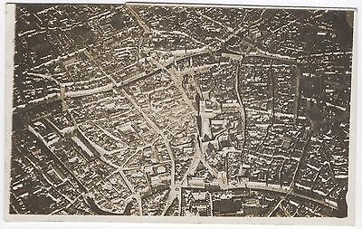 Real Photo Postcard Aerial View Ghent, Showing Cathedral, Belgium