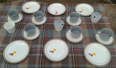 Vintage MELAWARE cups and saucers + SWIFTS OF EXMOUTH plates + bowls - Campervan