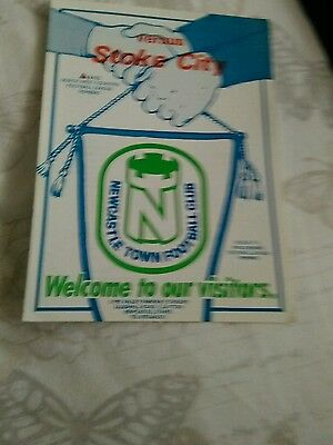 Newcastle Town v Stoke City 4 page fr 6/8/1987 MINT CONDITION