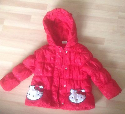 Hello Kitty - Red - Hooded Jacket - 2/3 Years - Vg Con.