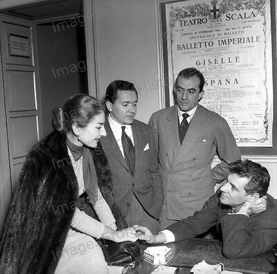 8x10 Print Maria Callas Cesare Valletti Luchino Visconti Leonard Bernstein #MC01
