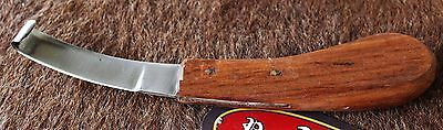 Carbon Steel Wood Handle Horse Equine Goat Cattle Grooming Tack Hoof Knife 98410