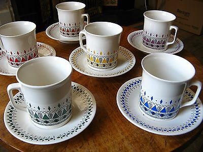 Vintage Villeroy & Boch Coffee Cups Saucers