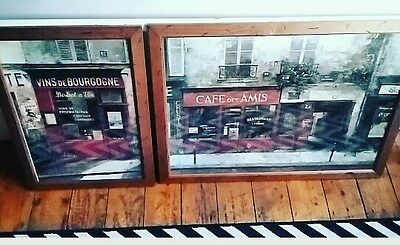 Two lovely glass framed French puctures