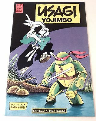 1988 FANTAGRAPHICS USAGI YOJIMBO #10 TEENAGE MUTANT NINJA TURTLES Rare VF