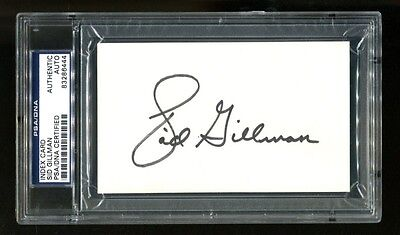 Sid Gilman Signed Index Card 3x5 Autographed Chargers PSA/DNA 83286444