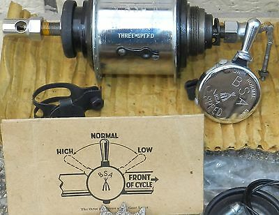 Old Nos Groupset Bsa 3 Speed Hub 36T Cycle/bycyle/bike/eroica