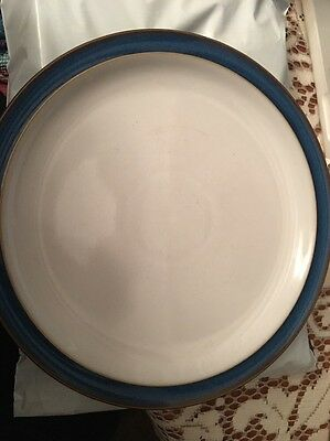 Denby Imperial Blue dinner plate - white top VGC