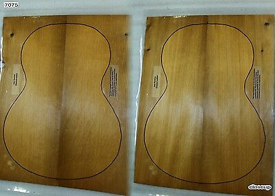 """2 Torrefied OM / Classical Adirondack Red Spruce 0.15"""" Guitar sets (7075)"""