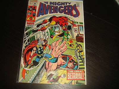 THE AVENGERS #66   Silver Age Marvel Comics 1969 VG-
